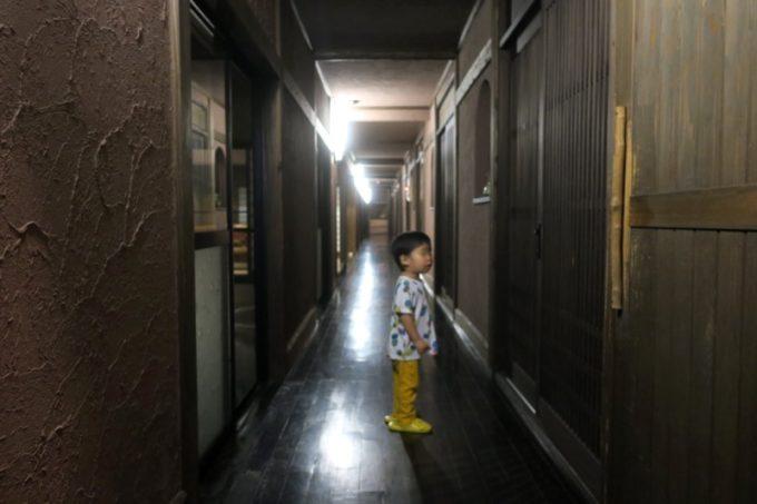 宮崎「極楽温泉 匠の宿」客間の廊下