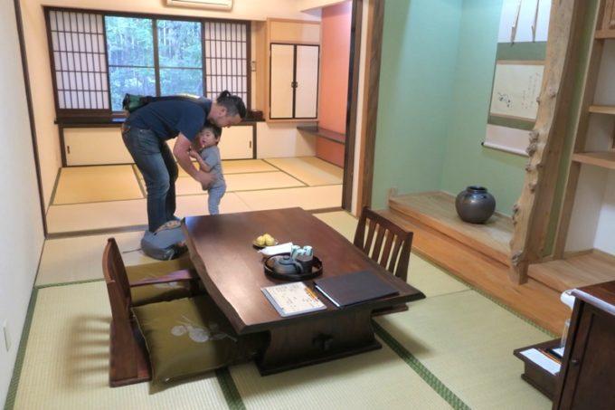 宮崎「極楽温泉 匠の宿」客室は12畳和室(18号)を利用した
