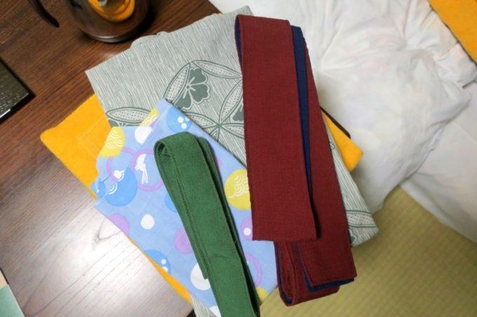 宮崎「極楽温泉 匠の宿」大人用と子供用の部屋着は浴衣だった。