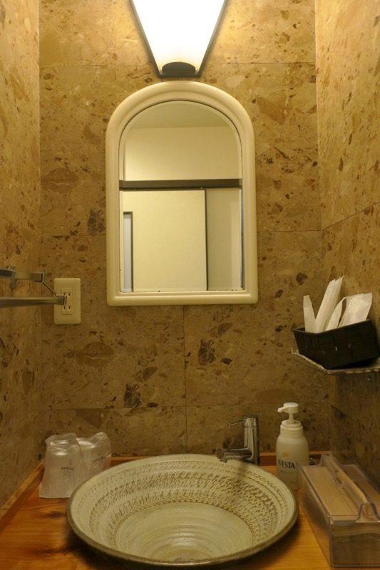 宮崎「極楽温泉 匠の宿」の手洗い場