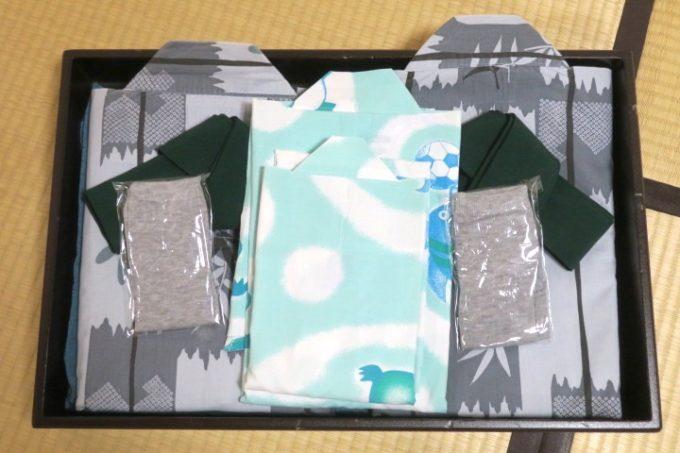 宮崎・綾町「酒泉の杜 綾陽亭」の部屋着(浴衣)