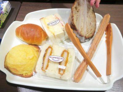 熊本・東区健軍のベーカリー「スキダマリンク」で購入したパン6種。