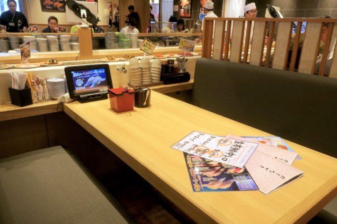 宮崎「寿司虎」新別府本店のボックス席