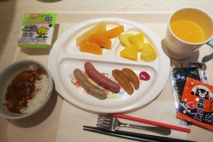 ANAクラウンプラザホテル熊本ニュースカイの朝食会場「サンシエロ」のお子サマーの食事