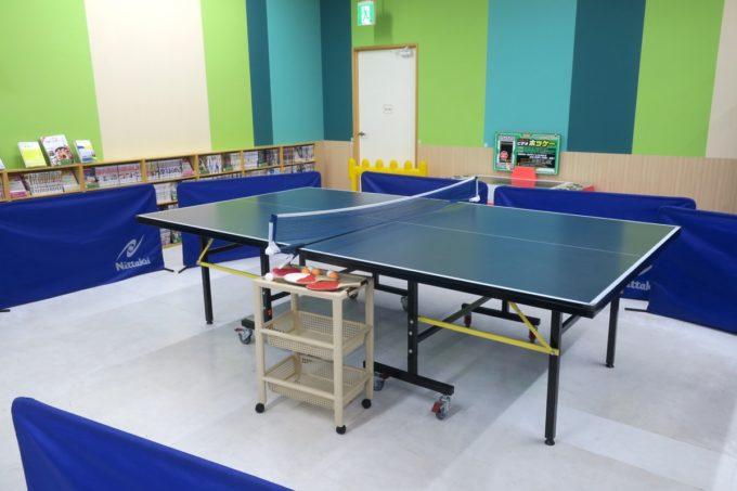 浦添・サンエーマチナトシティ「あそびパーク」卓球台。