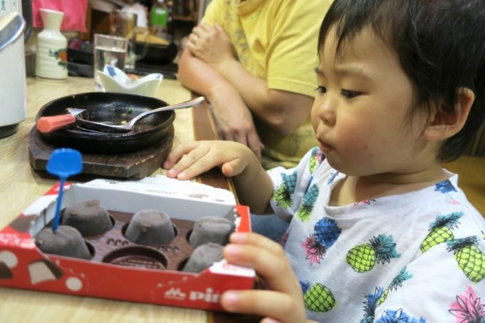 宮崎県高原町「酔処 順平」お子サマーにアイスをサービスしてもらった。