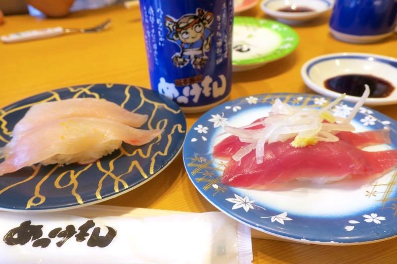 鹿児島県霧島市「廻る寿司 めっけもん 国分店」回転レールから取り、食事スタート。