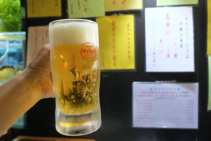 那覇・国際通り「海鮮居酒屋 久茂地」2時間1000円の飲み放題ビールはオリオンサザンスターだった。