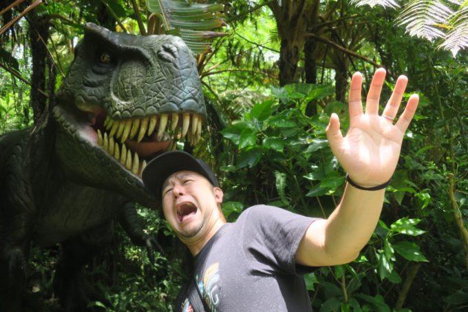 名護「DINO 恐竜 PARK やんばる亜熱帯の森」動くティラノサウルスに食われるご主人様ー。