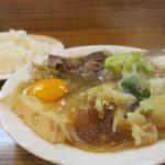 那覇・松山「三笠食堂」スキヤキ(700円)