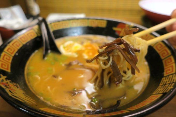 那覇・国際通り「一蘭」残ったスープに追加オーダーをイン。