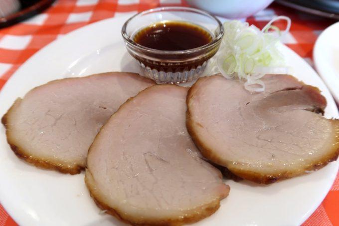 南風原・環境の杜ふれあい「ぬーじボンボン ニュータイプ」満腹セット(950円)の焼豚3枚