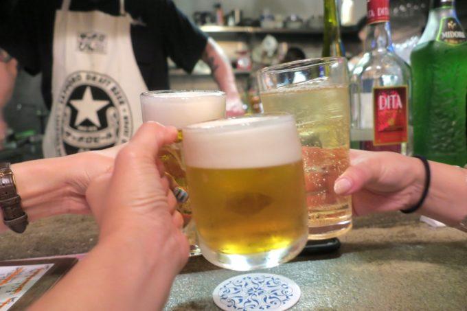 那覇・牧志「酒場TQ(ターコイズ)」生ビールはハートランド(600円)