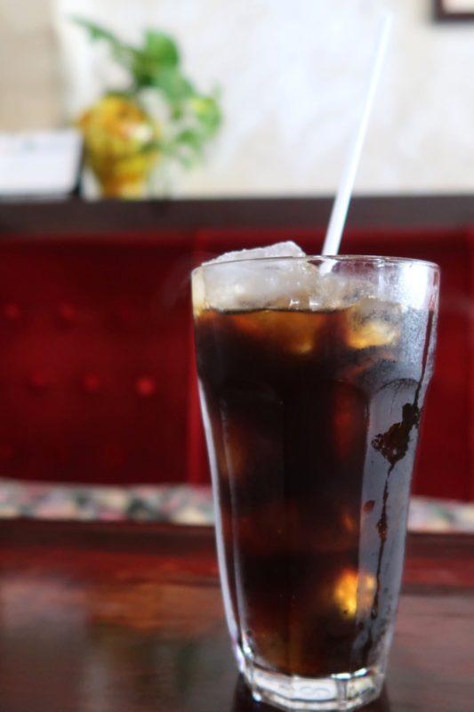 那覇・久茂地「珈琲屋 茶暮里(さぼうる)」ランチのソフトドリンク(アイスコーヒー)