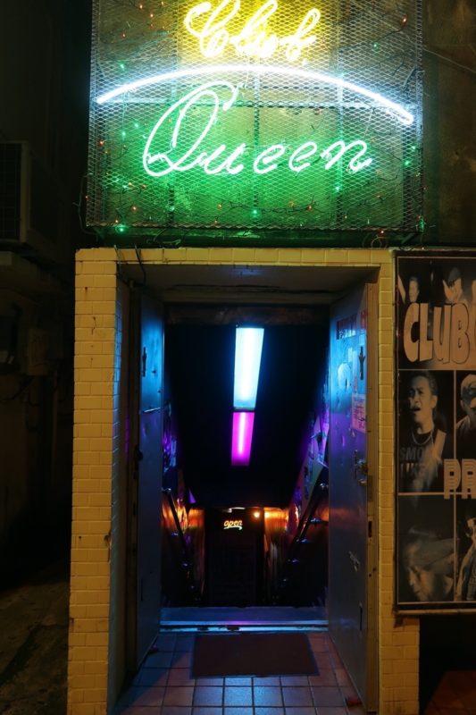 沖縄市「CLUB QUEEN」の入り口