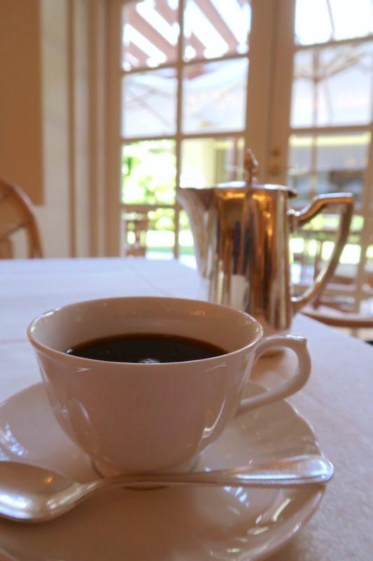 ザ・ナハテラスのレストラン「ファヌアン」ランチ後のコーヒー