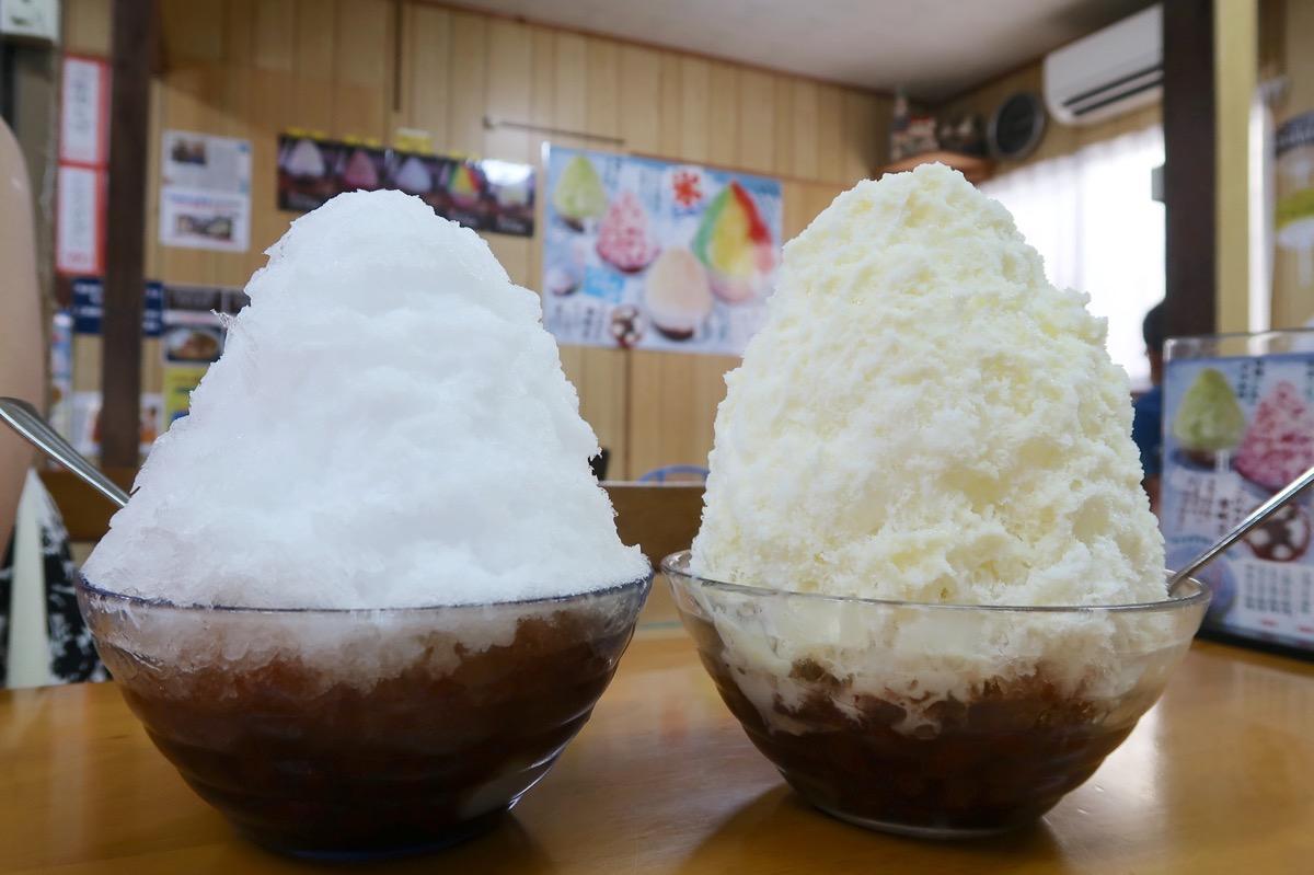 名護「ひがし食堂」ぜんざい(280円)とミルクぜんざい(390円)