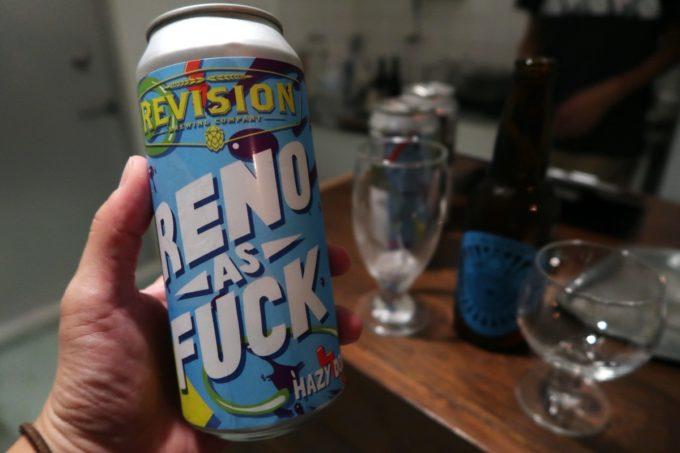 沖縄市の酒屋「HOPPED UP」でRevision Brewing Reno As Fuckをオススメされる