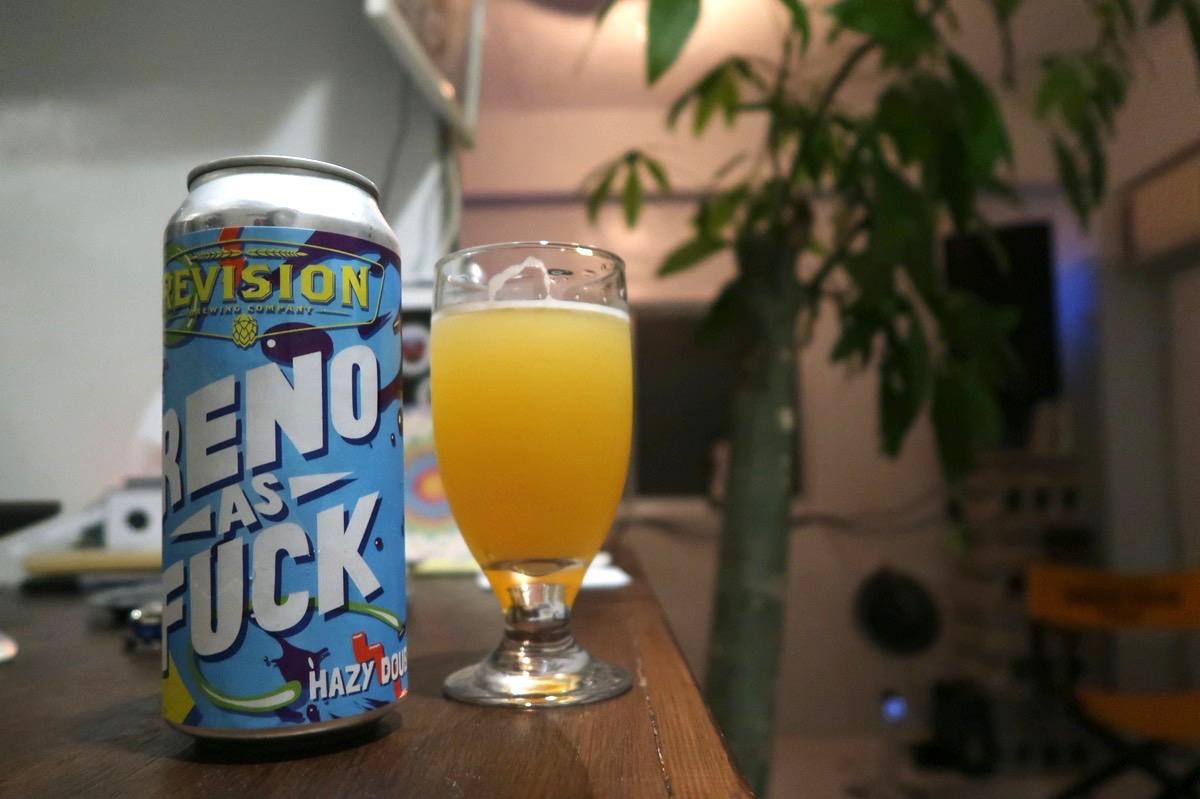 沖縄市の酒屋「HOPPED UP」でRevision Brewing Reno As Fuck(1300円)を試飲してみた。