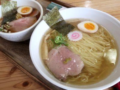 「ラブメン 読谷ゆんた市場店」塩煮干しソバ(700円くらい)