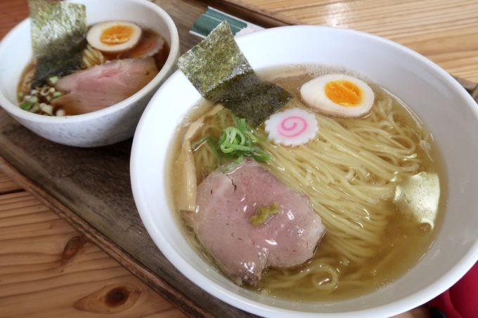 「ラブメン 読谷ゆんた市場店」塩煮干しソバ(700円)