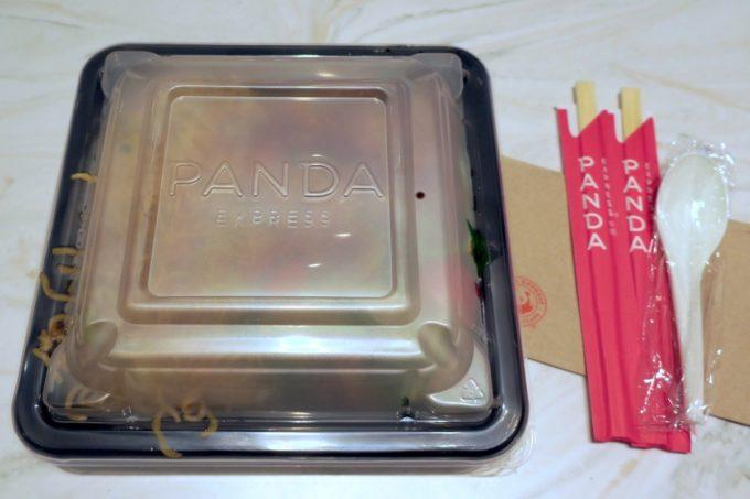浦添の「PANDA EXPRESS 沖縄パルコシティ店」テイクアウトのお弁当を開封の儀!