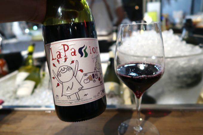 宜野湾「PePePe(ペペペ)」飲み放題の赤ワイン、南フランスのラパッショングルナッシュ。