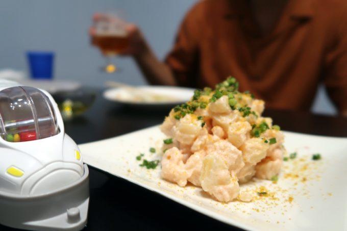 宜野湾「PePePe(ペペペ)」たらことカラスミと青ネギのポテトサラダ(400円)