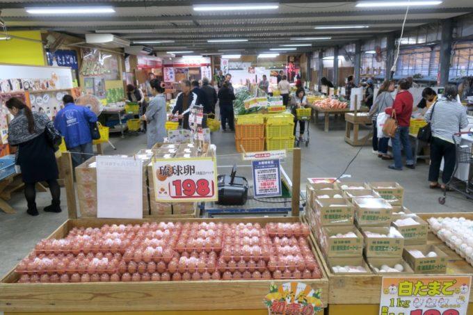 八重瀬「アグリハウスこちんだ」の野菜や卵を販売している直売所。