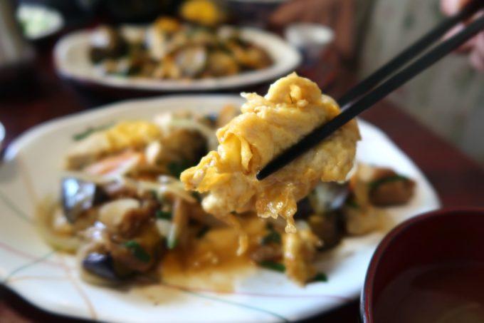 那覇・久茂地「コーヒーハウス潤」ナス味噌炒めの卵もおいしい