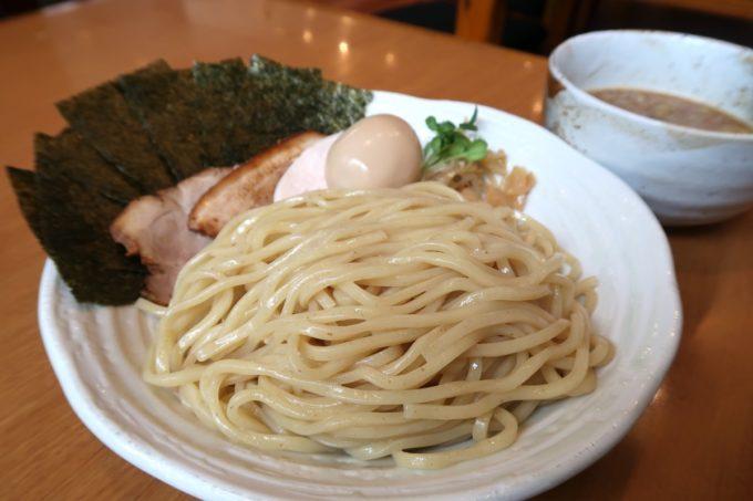 読谷村長浜「麺屋 シロサキ」つけめん(800円)にのりトッピング(+100円