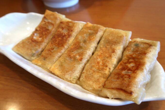 読谷村長浜「麺屋 シロサキ」リニューアルした餃子(300円)