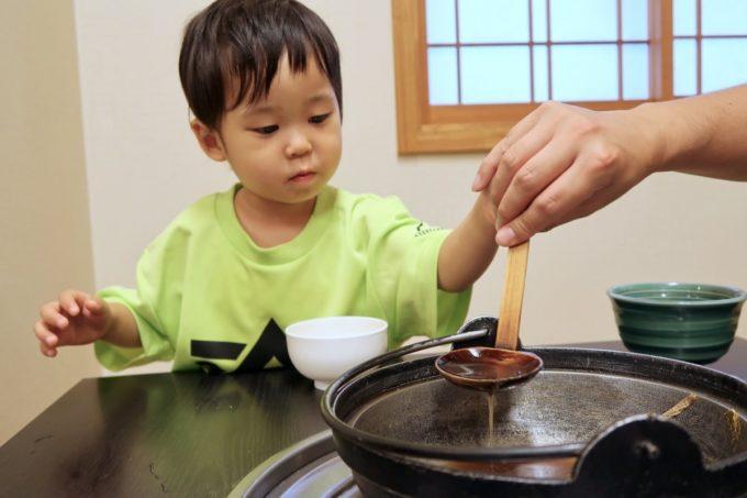 両国「相撲茶屋 寺尾」ちゃんこのスープがおいしくてたくさん飲んだ。