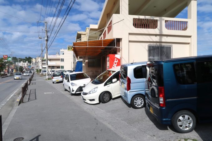 豊見城「海洋食堂」の駐車場の様子