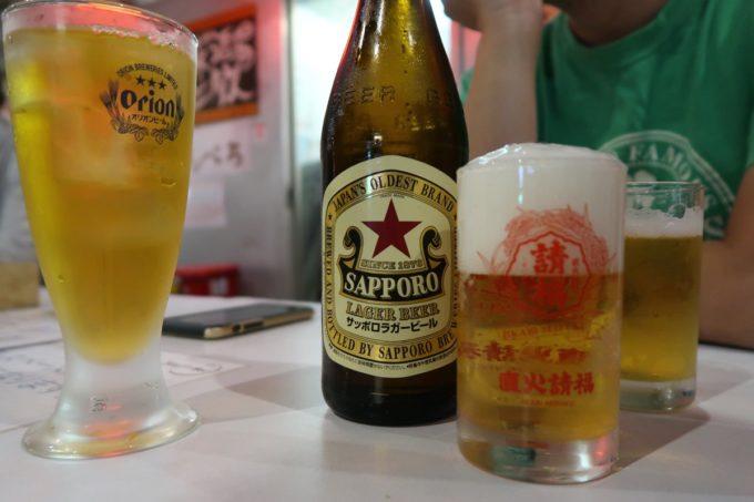 石垣島「琉球立飲酒場」せんべろ後にサッポロラガー(600円)などを飲んだ