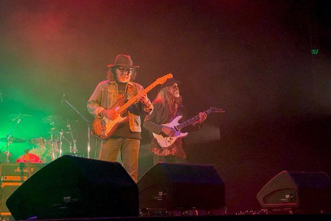 2020年2月16日「紫 結成50周年スペシャル MURASAKI LIVE IN KADENA」のツインギター、 GG(下地行男)と比嘉清正