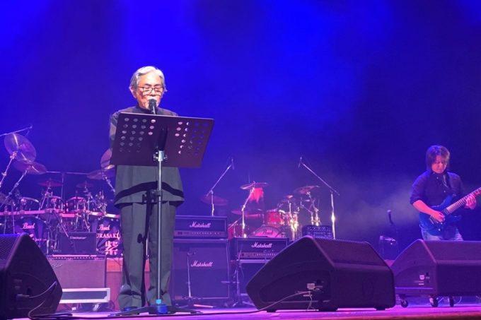 2020年2月16日「紫 結成50周年スペシャル MURASAKI LIVE IN KADENA」でテノール歌手の大井学さん