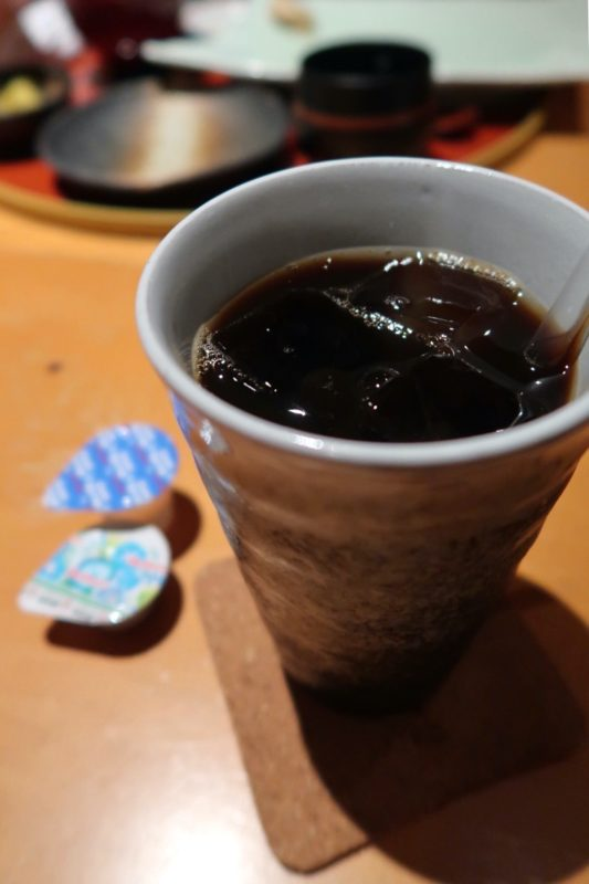 那覇・久茂地「夢すし」寿司ランチ御膳(1800円)食後のコーヒー