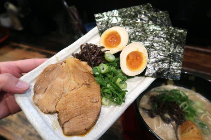 那覇・銘苅「麺や偶 もとなり」のスペシャルトッピング(250円)