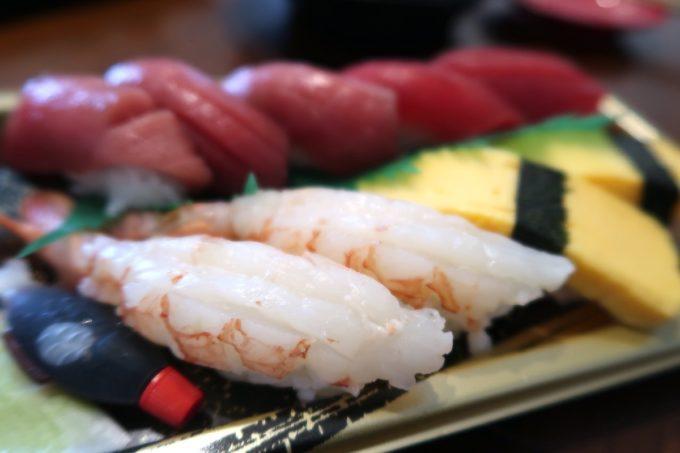 那覇・与儀「地魚仕立て屋 おりた鮮魚店」本日の握り盛り合わせ(850円)のウラ
