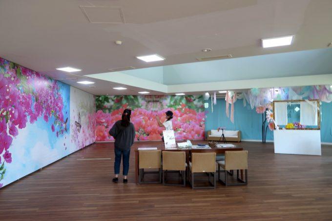 沖縄「東南植物楽園」映える写真撮影コーナーが設けられていた