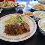 那覇市田原「チャイニーズキッチン金龍」で食べたランチの様子
