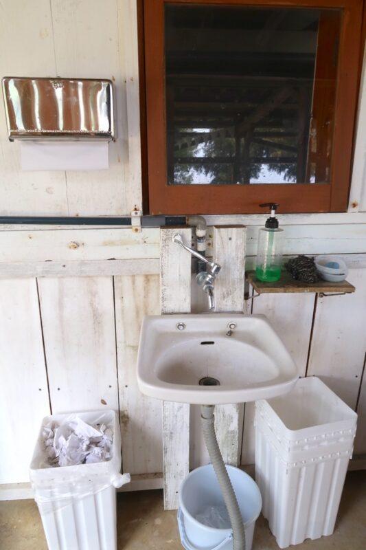 糸満「海ん道(うみんち)」のキャンプで使える手洗い場