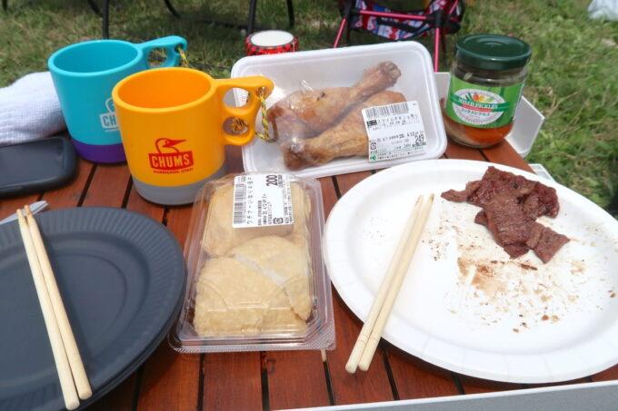 糸満「海ん道(うみんち)」デイキャンプでの食事の様子
