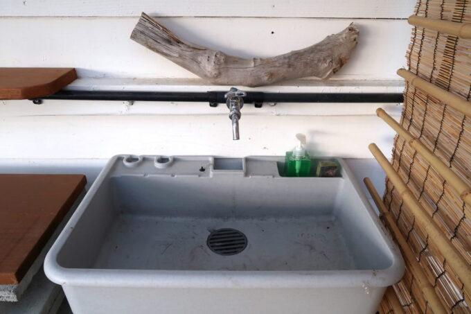 糸満「海ん道(うみんち)」の炊事場