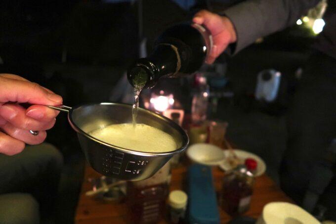 糸満「海ん道(うみんち)」シャンパンを持ち込んだ強者