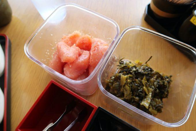豊見城市「沖縄やまや」食べ放題の明太子と高菜