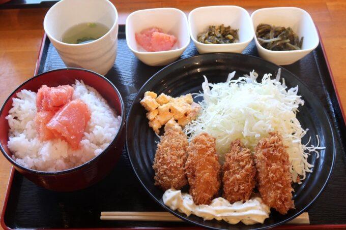 豊見城市「沖縄やまや」日替わりのカキフライ定食(800円)
