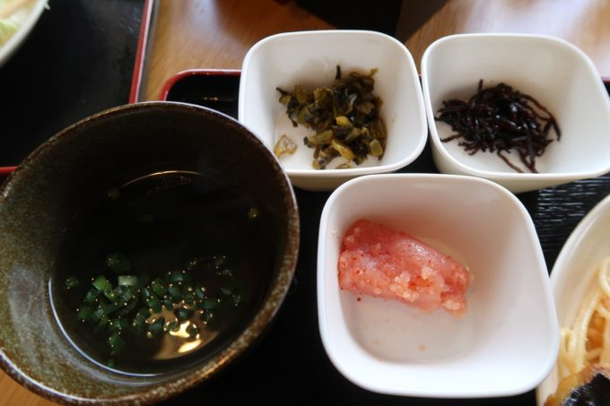 豊見城市「沖縄やまや」日替わりの汁物と副菜など