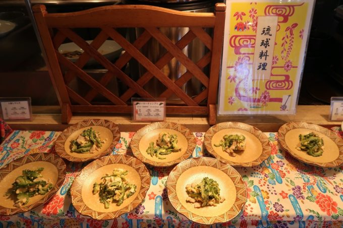 恩納村・ホテルムーンビーチ「コラーロ」の朝食(沖縄料理)